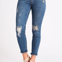 Better For Me Distressed Jeans (Medium Wash)