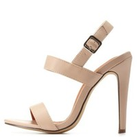 Nude Strappy Slingback Dress Sandals by Charlotte Russe