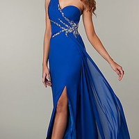 One Shoulder Floor Length Dress