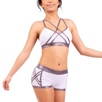 Capezio Women's Warrior Cross Front Halter Bra Top