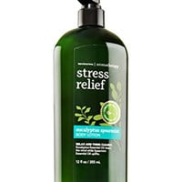Bath Body Works Aromatherapy Stress Eucalyptus Spearmint Bonus Size Body Lotion, Limited Edition 12 Ounce