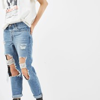 MOTO Busted Ripped Hayden Boyfriend Jeans | Topshop