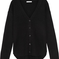 Alexander Wang - Ribbed-knit wool and cashmere-blend cardigan