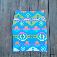 Summer Tribal Mini Skirt