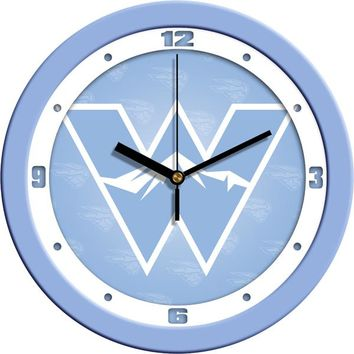 Western State Colorado University Mountaineers Baby Blue Wall Clock