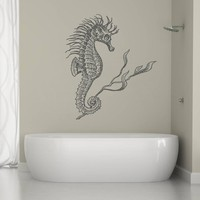 ik1230 Wall Decal Sticker seahorse sea bathroom