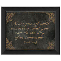 Never Put Off Until Tomorrow... by Artwork Enclosed at Gilt