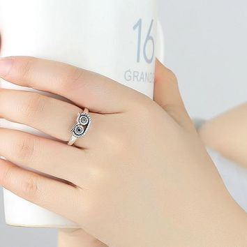Silver Owl Ring for Women