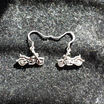 Motorcycle Biker Nickel Free Earrings