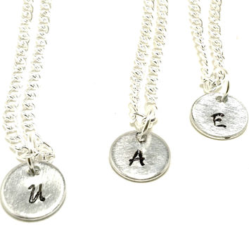 Round Personalized Initial Necklace