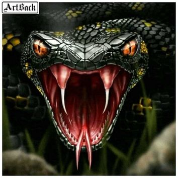 5D Diamond Painting Snake Bite Kit