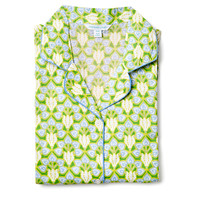 Brooke Nightshirt, Lime/Blue, Pajamas