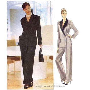 Vogue 1887 JOHN GALLIANO for GIVENCHY Mock Jumpsuit Pattern Pantsuit Vogue Paris Original Womens Sewing Patterns Size 8 10 12