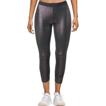 Nike Pro Womens Metallic Fitness Athletic Leggings