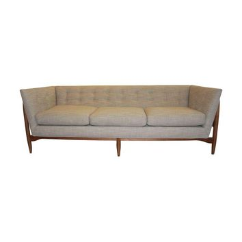 Pre-owned Milo Baughman For Thayer Coggin Button Up Sofa