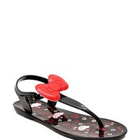 Hello Kitty Glitter Bow Jelly Sandals | Hot Topic
