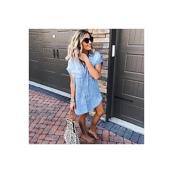 CiCi Chambray Tunic Dress