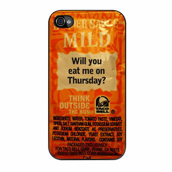 Taco Bell Sauce Fire Mild iPhone 4s Case