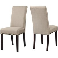DHI Nice Nail Head Upholstered Dining Chair, Set of 2, Multiple Colors - Walmart.com
