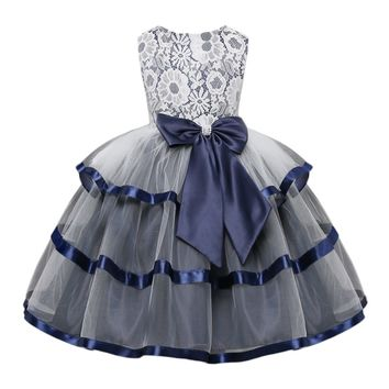 Beautiful Vintage Lace Girl's Dress with Bow