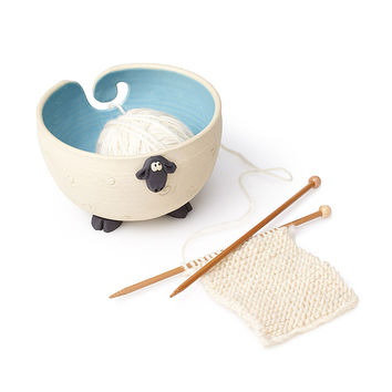 Sherman the Sheep Yarn Bowl | knitting accessories, yarn keeper
