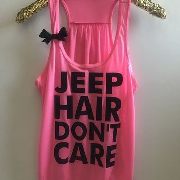 Jeep Hair Don't Care - Graphic Tee - Ruffles with Love - RWL