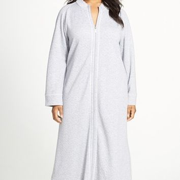 Plus Size Women's Carole Hochman Designs Zip Front Quilted Robe,