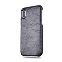 Personalized All Black iPhone X Leather Case - Kulör Cases