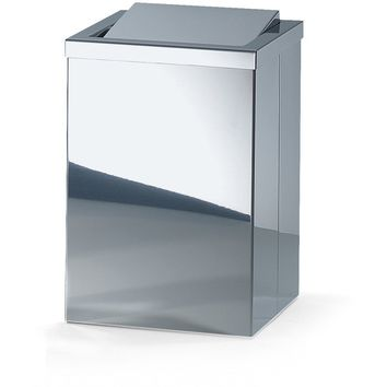 DWBA Square Stainless Steel Wastebaske Trash Can W/ Swing Lid. Chrome