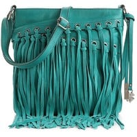 Lucky Brand Loredo Fringe Cross Body Bag
