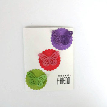 Hello Friend Card Butterfly Card