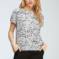 Abstract Paint Splatter Blouse