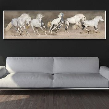 canvas painting art print  wall art pictures horse on canvas and poster no frame wall art Painting decoration for living room