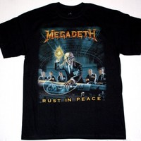 MEGADETH RUST IN PEACE'90 DAVE MUSTAINE METALLICA ANTHRAX SOD NEW BLACK T-SHIRT
