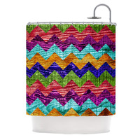 "Beth Engel ""Natural Flow"" Chevron Shower Curtain"