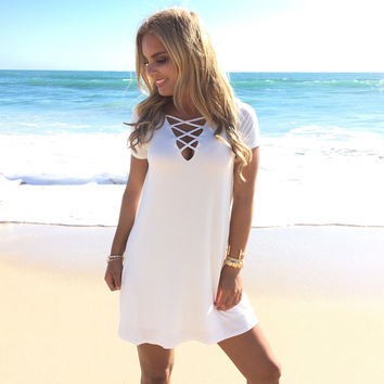 Life Is Good Jersey Dress In Ivory