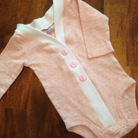 Baby Cardigan One Piece, Pink Infant Cardigan, Baby Girl Bodysuit, Child Cardigan, Long Sleeve Cardigan, Baby Shower Gift
