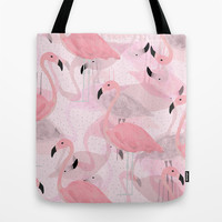 Flamingo Pattern Tote Bag by Georgiana Paraschiv