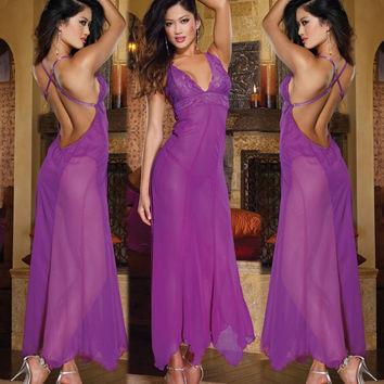 Hot Deal Sexy Cute On Sale Spaghetti Strap Dress Backless Prom Dress Exotic Lingerie [6595883651]
