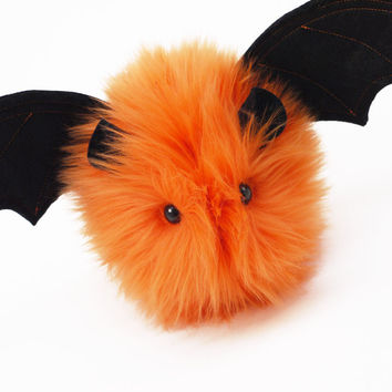 Luna the Orange Bat Stuffed Animal Plush Toy