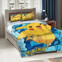 Pokemon Twin/Full 'Big Pika' Comforter with 2 Shams - by The Northwest Company