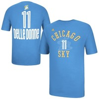 adidas Elena Delle Donne Chicago Sky Ladies Name And Number T-Shirt - Sky Blue