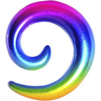 "1/2"" Acrylic Electric Rainbow Spiral Taper"
