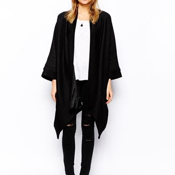 ASOS Oversized Kimono Coat in Coated Texture