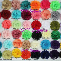 You pick amount shabby flower - wholesale flowers - shabby flower trim - shabby chic flower - chiffon trim - headband flower - frayed flower