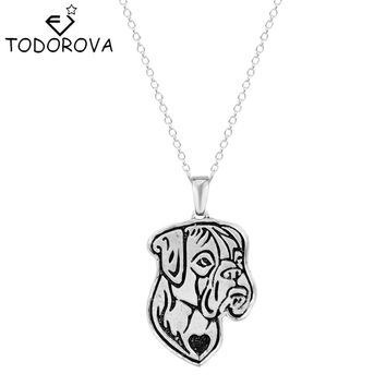 Hippie Chic Animal French Boho Dogs Pendant Necklace