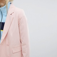 Pull&Bear Two-piece Tailored Double Breast Blazer at asos.com