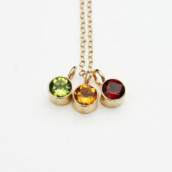 14k solid gold citrine birthstone necklace. Peridot, garnet or citrine gemstone minimalist everyday pendant. Handmade, modern gold jewelry.