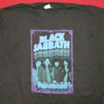 Black Sabbath T-Shirt Newcastle Black Size XL
