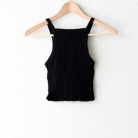 Ribbed Crop Tank Top